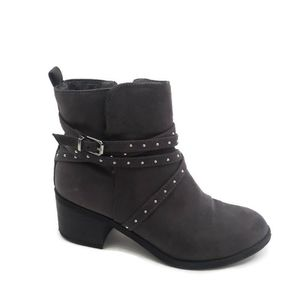 Justice Boots Gray Studded Strappy